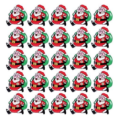LUOEM 25Pcs LED Brosche Weihnachten Brosche Pin Anstecknadel Weihnachtsmann Abzeichen Brosche für Kind Geschenk Partei Bevorzugungen (Ideen Für Partei-bevorzugungen)
