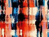 John Kaldor Abstrakt Print Chiffon Kleid Stoff, orange,