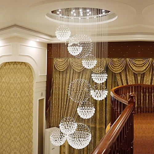 Creative-Living-room-chandeliers-Hotel-engineering-lamps-villa-Bar-lamp-11-balls-Double-staircase-Long-chandelier