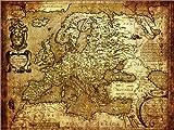 Poster 130 x 100 cm: Europa 1600 von Michaels Antike Weltkarten - Hochwertiger Kunstdruck, Kunstposter