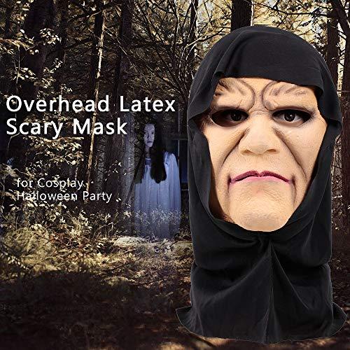 Festnight Cosplay Halloween Maske Overhead Latex Hexe Gesicht Kostüm Scary Mask Trick Spiel Spielzeug (Namen Für Halloween Kostüm Parteien)