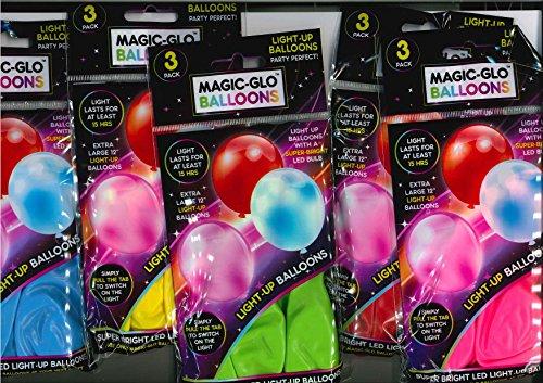 sch Glo Luftballons - 5 packungen / 5 farben (Ballons Mit Led-lichtern Im Inneren)