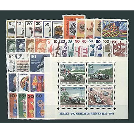 Goldhahn Berlin postfrisch Jahrgang 1971 komplett Briefmarken für Sammler