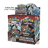 #9: Pokemon XY Cards Booster Display: 5 Packs = 35 - 40 Additional Cards for Pokemon Trading Card Game (English) (Sun & Moon Crimson Invasion)