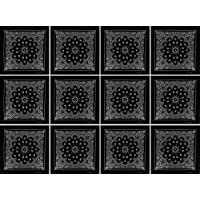 Alex Flittner Designs Pack of 12 Bandana with exclusive Paisley pattern in black (female) (Clothing)
