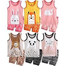 Vaenait Baby 1–7Yeas Niñas Homewear sin mangas ropa juego de animales