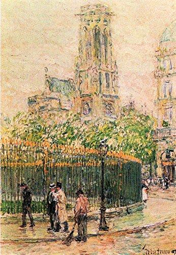 Das Museum Outlet–St. Germain l 'Auxerrois (Paris) by Hassam–Leinwanddruck Online kaufen (76,2x 101,6cm)
