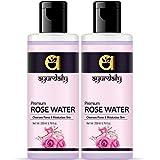Ayurdaily Pure Rose Water/Skin Toner/Cleanser Men & Women (200 ml) Pack of 2