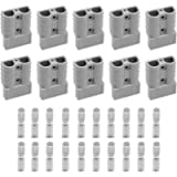 Battery Connector 50Amp 600V Quick Connection Plug Connector for Anderson powerpole 10PCS