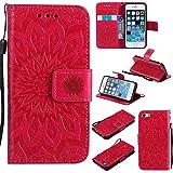 Coque iPhone 5 / 5s / Se, Etui en Cuir Portefeuille avec [Protecteur d'écran en...