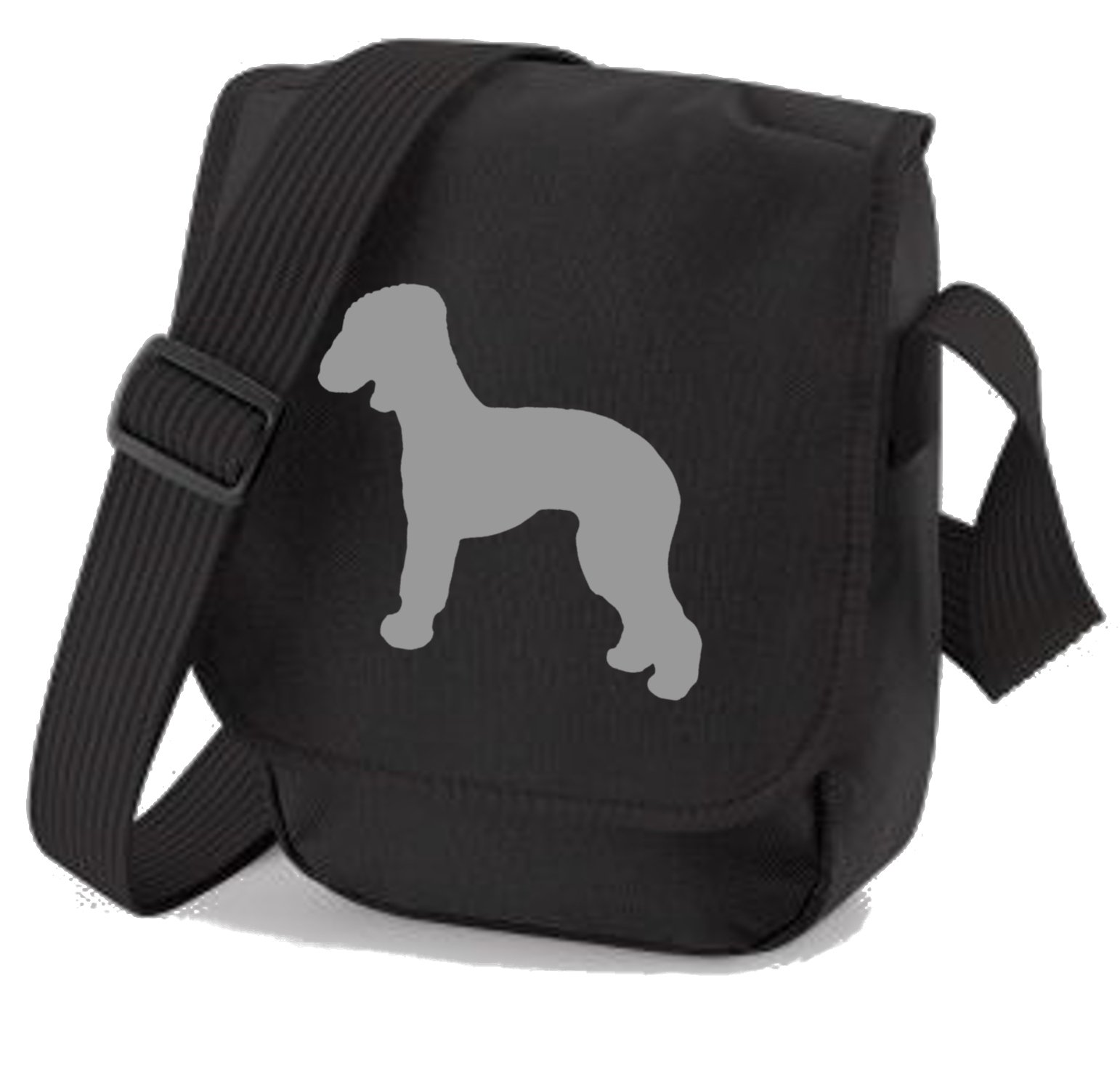 Bedlington Terrier Dog Bag Reporter Bag Shoulder Bag Bedlington Silhouette Bedlngton Gift Choice of Colours