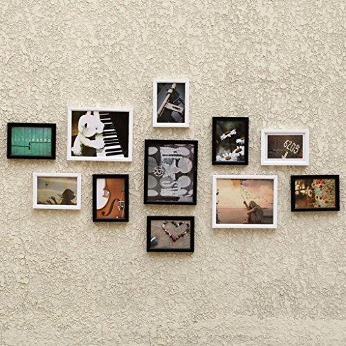 Cadre en bois simple, décoration de mur de cadre de photo de salon, images non incluses, ensemble de 11 cadres @The harvest season
