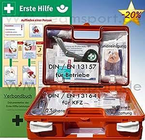 erste hilfe koffer bg paket 2 mit aushang 1 hilfe verbandbuch f r betriebe din 13157 en. Black Bedroom Furniture Sets. Home Design Ideas