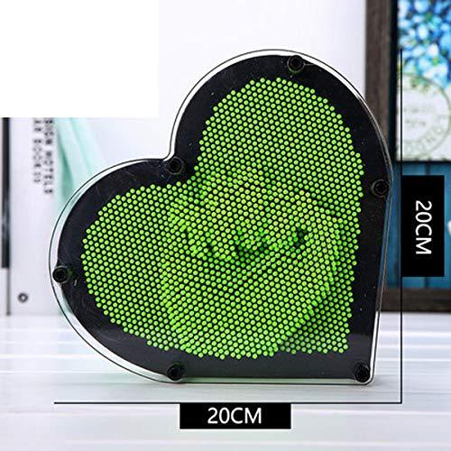XXYUHA Dekoratives Handwerk Dreidimensionale Nadel DIY Clone Hand Touch kreative Ornamente Mädchen Geburtstagsgeschenk Harz Statue (Color : Green Heart) -