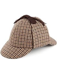 Chapeau Sherlock Holmes à motifs en pieds de poule JAXON & JAMES