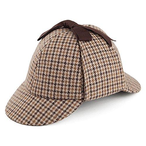 Jaxon & James Sherlock Holmes Hut in Hahnentrittmuster Gr. Medium, Braun