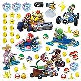 RoomMates RMK2728SCS RM - Mario Kart mit Freunden Wandtattoo, PVC, Bunt, 29 x 13 x 2.5 cm