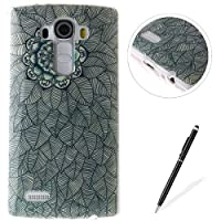 LG G4 case,Feeltech Flexible Ultra Thin Soft Gel TPU IMD Slim-Fit Bumper Case In-Mold Decoration Technology with Cute Cartoon Lightweight [Shock-Absorption] Elastic Silicone Rubber Skin Protective Back Cover Luxury Fashion Design Printed Pattern [with Free Stylus] Scratch Resistant Protector Shell f