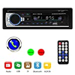 Tenlso Car MP3 Player, Car Stereo Radio Receiver Multimedia Single Din LCD, BT Audio Calling, Built-in Microphone, USB...