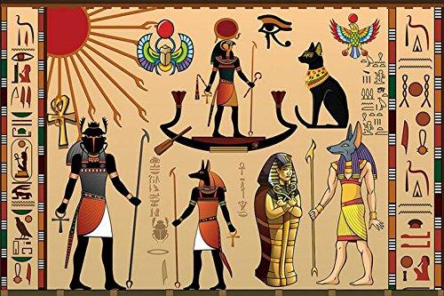 Jonp 3D Papel pintado Wallpaper Grandes Murales Personalizados Antiguo Egipto Celebration Hotel Salón Tv Sofá Dormitorio De Pared 3D Estereoscópico Papel Tapiz Fresco mural 4