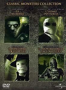 classic monsters collection - Il mostro della laguna nera / L' uomo invisibile / Il fantasma dell'Opera / La Mummia (4 Dvd) Italian Import
