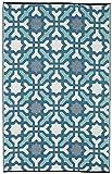 Fab Hab Seville - Multifarben - Blau - Teppich/ Matte für den Innen- und Außenbereich (150 cm x 240 cm)