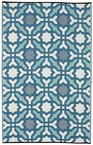 Fab Hab - Seville - Multifarben - Blau - Teppich/ Matte für den Innen- und Außenbereich (150 cm x 240 cm)