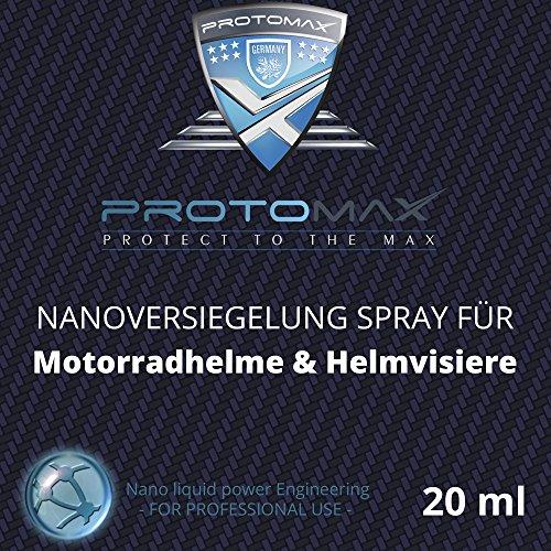 PROTOMAX Nanoversiegelung-Spray fürs Motorrad: Motorradhelme, Helmvisiere, Integralhelme & Visiere (20 ml)