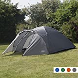 Andes 4 Person Man Berth Double Skin Camping/Festival Dome Tent