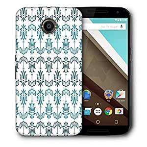 Snoogg Opposite Pattern Blue Printed Protective Phone Back Case Cover For LG Google Nexus 6