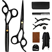 Haarschere Friseurscheren Set | Carttiya Haarschneideschere aus Edelstahl Licht Friseurschere und Effilierschere mit…
