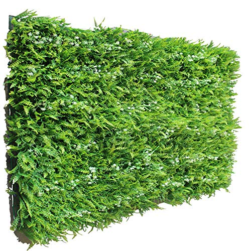 TELLW Artificielle Simulation Mur végétal Gazon pelouse synthétique Décoration Murale à Suspendre Faux Plante en Plastique Décoration Salon Fond Ombre Creative Vert Mural