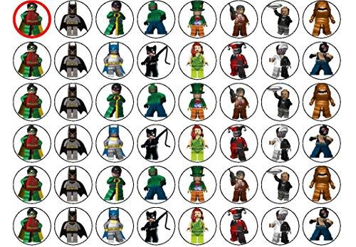 ego Batman 48 Stück (#2) (Lego Cupcake Topper)