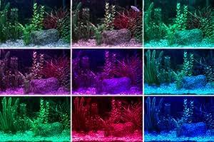 Leder - Guirlande Lumineuse de Décoration pour Aquarium - Lumière LED - Couleurs Changeantes avec Télécommande - Etanche