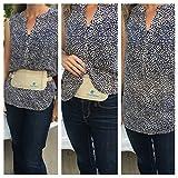 Flache Bauchtasche mit RFID-Blockierung Geldversteck Multifunktional Hüfttasche Laufgürtel Brustbeutel zum Sport Reisen Fitness oder Joggen (Beige / Braun) -