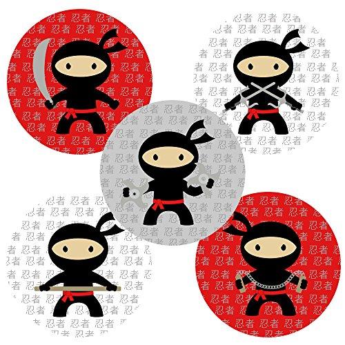 Adorebynat Party Decorations - EU Ninja Aufkleber-Aufkleber - Party-Bevorzugungen und Umschlag-Dichtungs-Partei liefert Dekoration - Set 50