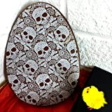 Large Flat Milk Chocolate Easter Egg With Skull Print,...