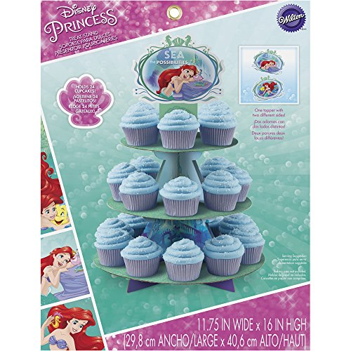 Wilton 1512-5660 Disney Princess Little Mermaid Ariel Cupcake-Ständer, sortiert (Cupcake Little Mermaid)