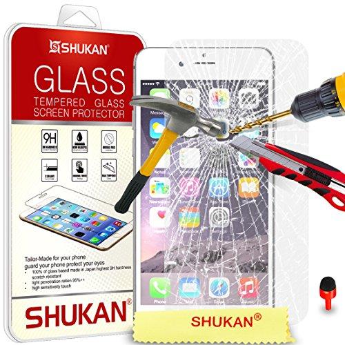 """Apple iPhone 6 / 6S Plus (5.5"""" Inch) Pack 1, 2, 3, 5, 10 Protecteur d'écran & Chiffon SVL2 PAR SHUKAN®, (PACK 5) VERRE TREMPÉ"""