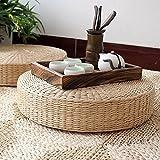 Bureze 40cm Round pouf Tatami naturale paglia meditazione tappetino cuscino tappetino yoga Zafu vimini
