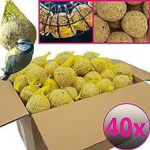 Bolas de grasa para pájaros - 40 bolas=3,6 kg - Alimento natural