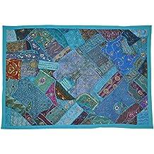 Diseñador indio tapiz decorativo diseño del remiendo y bordado y retales, ...