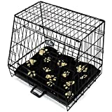 """Sloping Dog Cage with Bed Small 24"""" Folding Car Puppy Pet Travel Crate"""