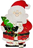 Carousel Home and Gifts Wooden Father Christmas Santa Claus Advent Calendar With Drawers