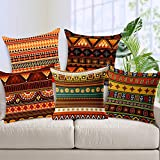 #7: Aart Ethenic Rajasthani Pattern printed Cushion Cover (set of 5) 16x16 by Aart Store Best Seller
