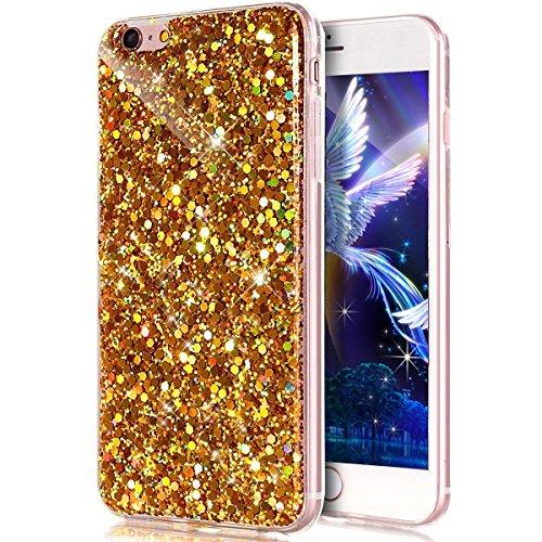 Glitzer Hülle für iPhone 6S,iPhone 6 Hülle,iPhone 6 Hülle Transparent Crystal Bling Glitzer Flüssig Case Hülle Klare Ultradünne Plastik Gel Schutzhülle für iPhone 6S / 6 4.7 Zoll,EMAXELERS iPhone 6S H Hexagon TPU 5