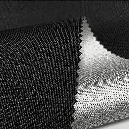 LUOSFUH Flammhemmendes Gewebe 600D elastischer Draht-Ochsenstoff beschichtetes Silber feuerfestes wasserdichtes Zelt-Gewebe-dekorativer...