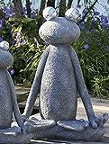 Casablanca - Skulptur Figur Dekoobjekt - Frosch - Magnesia - Farbe: Grau/Silber - Höhe: 80 cm