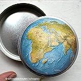 Bonbondose Weltkugel Globus
