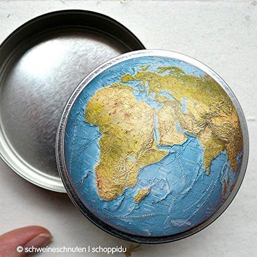 Bonbondose Weltkugel Globus (Globus Bat)